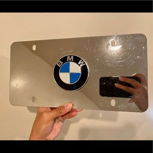 BMW logo mirrored license plate